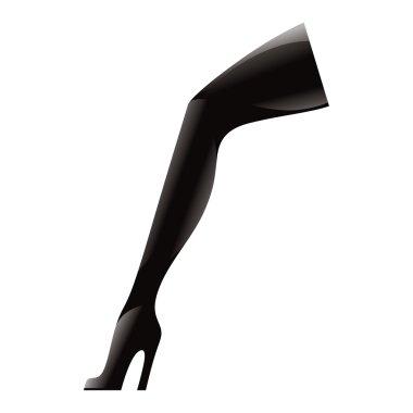 High Heel Boots black shoe foot wear latex leather fashion fetish
