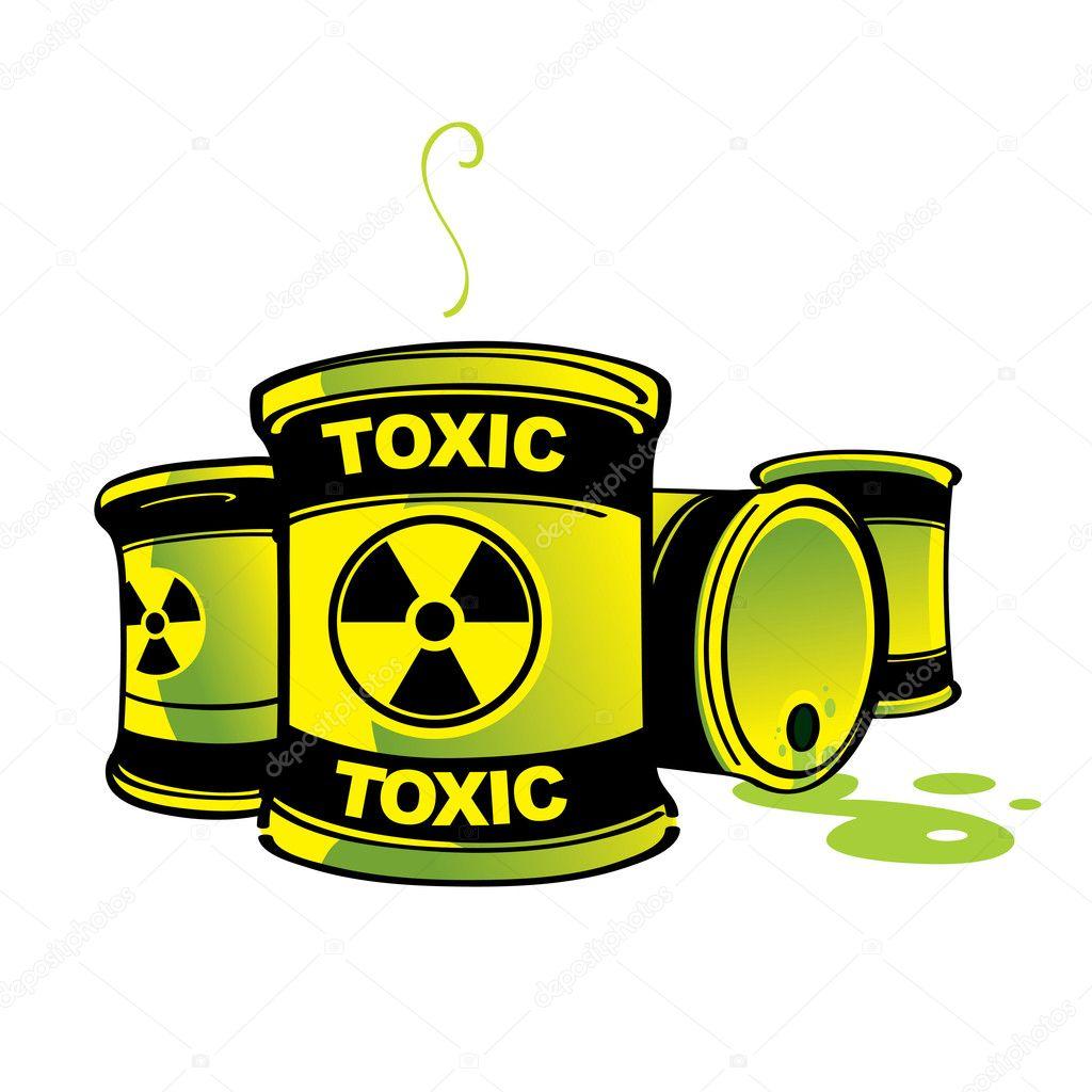 Toxic Barrels hazard radioactive poison container