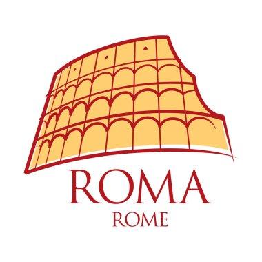 World famous landmark - Rome Colosseum Italy