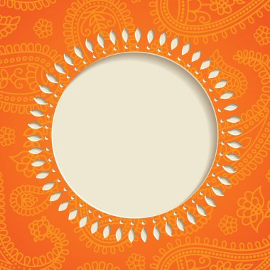 Orange paisley frame