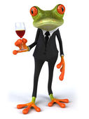 Frog and wine 3d