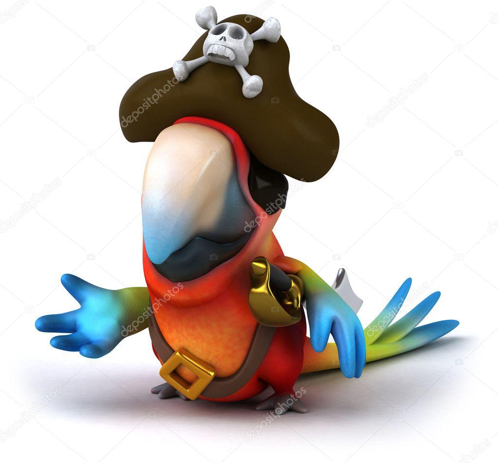 pirate parrot 3d u2014 stock photo julos 8951599