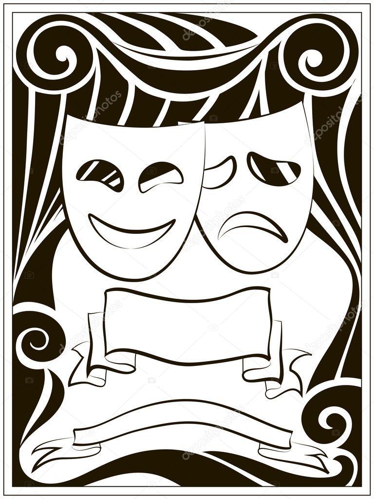 театральные атрибуты картинки черно белые голых тёлок разбиты
