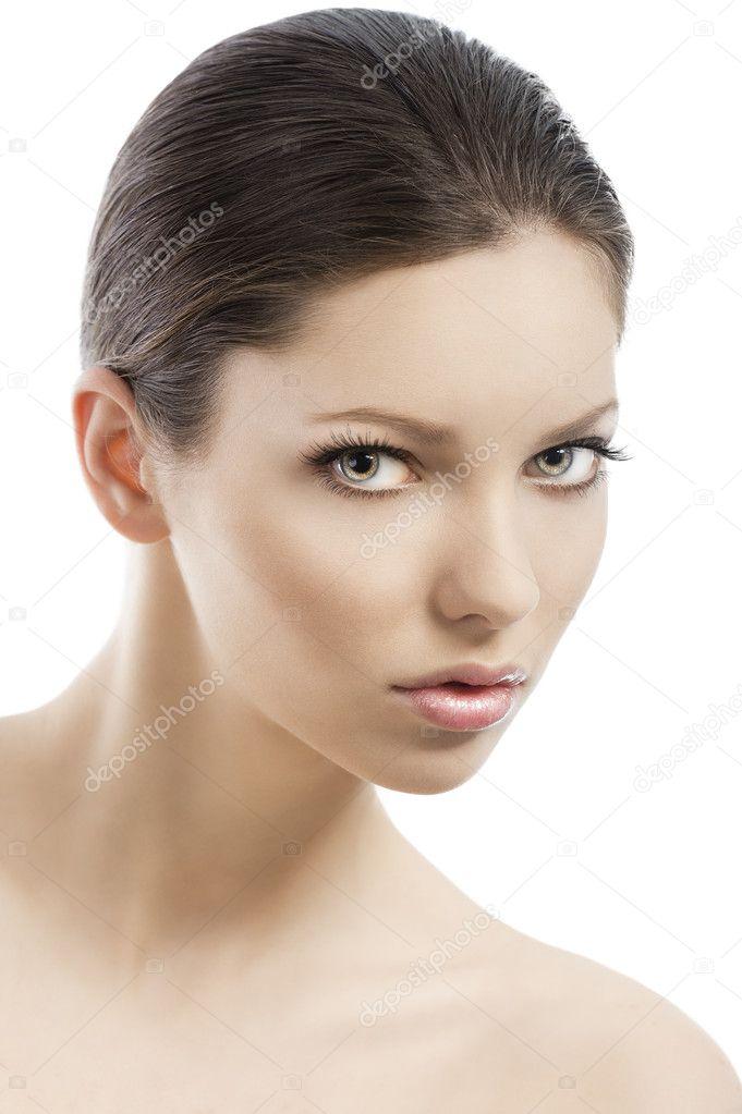 Cara tres cuartos mujer | cara de belleza estilo tiro, ha resultado ...