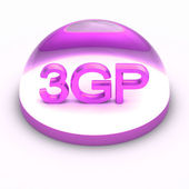 3D souboru formát ikona stylu - 3gp