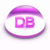 3D souboru formát ikona stylu - db