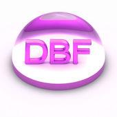 3D souboru formát ikona stylu - dbf