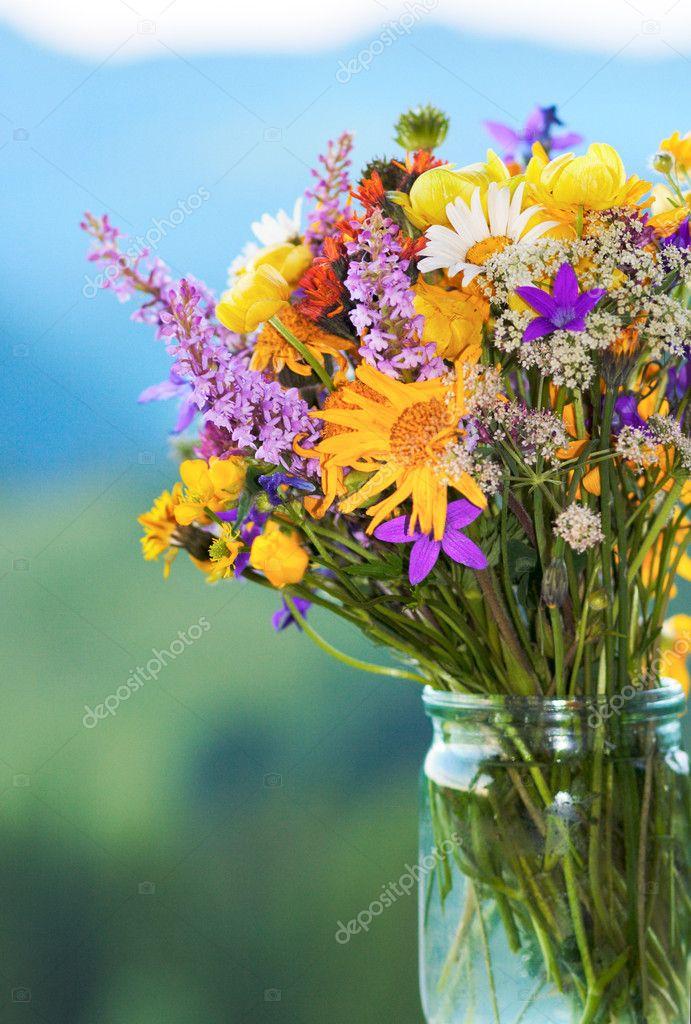 Conosciuto bouquet di fiori di montagna — Foto Stock © wildman #8080991 DH11