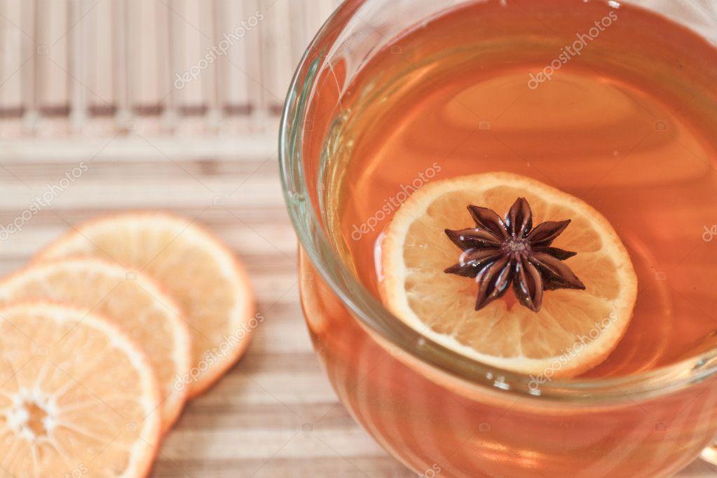 Anise star in hot tea