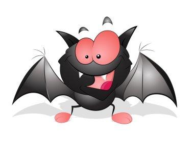 Happy Cartoon Bat