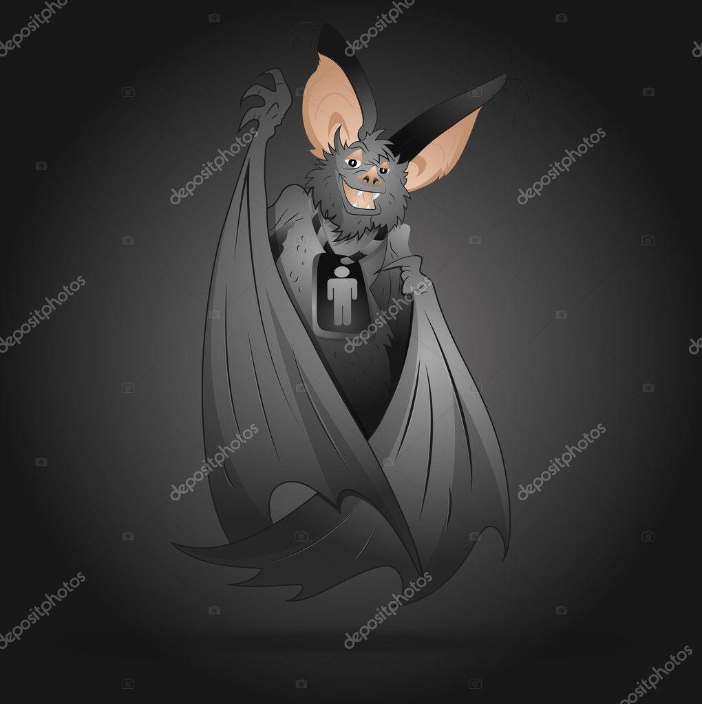 T shirt stampa cartone animato con maniche pipistrello bianco
