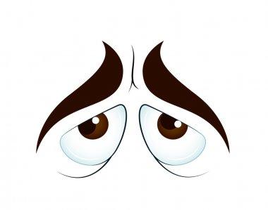 Creative Lovely Design Art of Sad Cartoon Eyes Vector Illustration stock vector