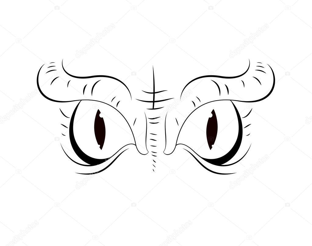 scary cartoon eyes stock vector baavli 10201913 rh depositphotos com scary halloween eyes cartoon draw scary cartoon eyes