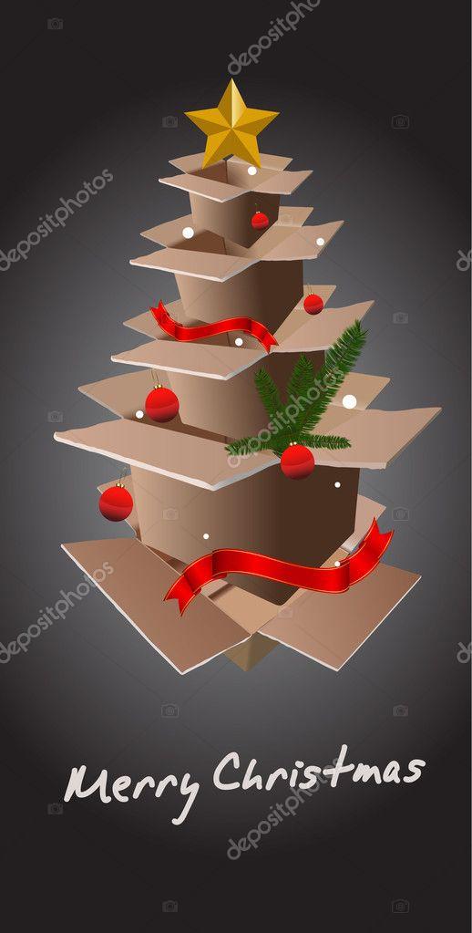 Moderner Weihnachtsbaum.Moderner Weihnachtsbaum Stockvektor C Baavli 7983760