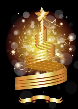 Abstract Decorative Design of Vector Golden Award stock vector