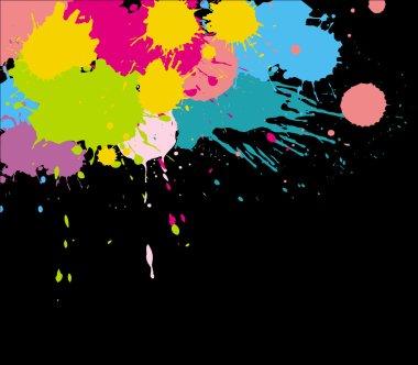 Colorful Splash on Black Background