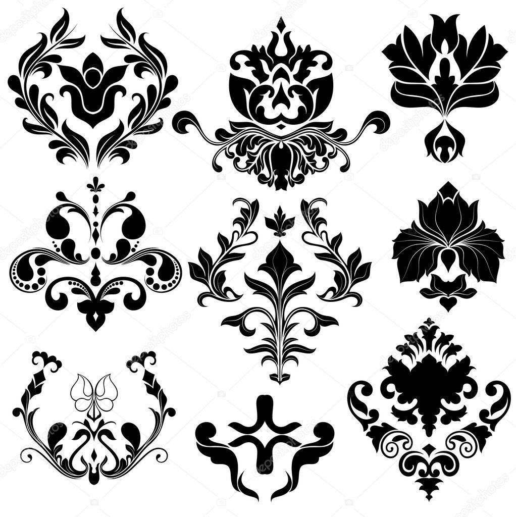 Damask Floral Designs