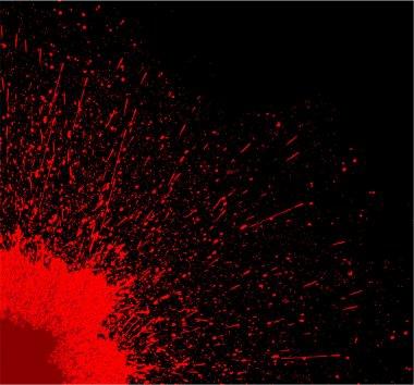 Creative Abstract Decor Design of Red Splash on Black Background clip art vector