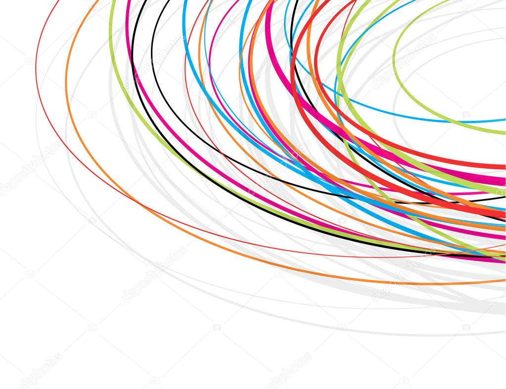 Annabella 67 Art Line Design : Colorful scribble lines background — stock vector baavli