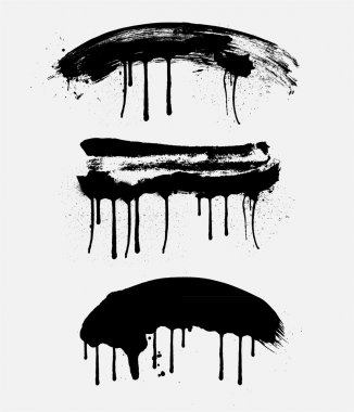 Retro Grunge Paint Strokes
