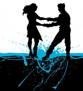 Romantic Couple on Splash