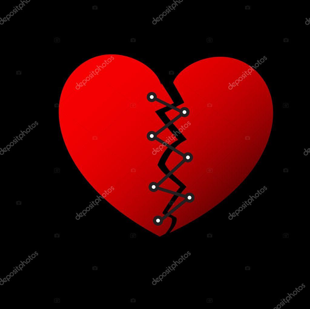 Repairing broken heart stock vector baavli 8561399 creative conceptual decorative design of repairing broken heart vector by baavli buycottarizona
