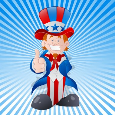 Happy Young Uncle Sam Vector