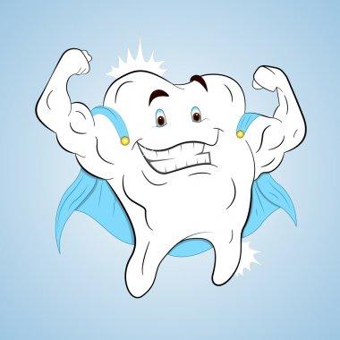 Superhero Healthy Tooth