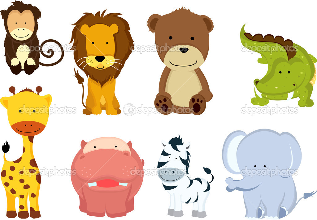 Wild Animal Cartoons Stock Vector C Artisticco 8146927