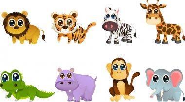 Wildlife animal cartoons