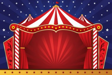 A vector illustration of a circus background stock vector