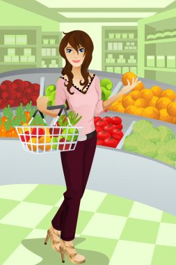 Woman shopping grocery