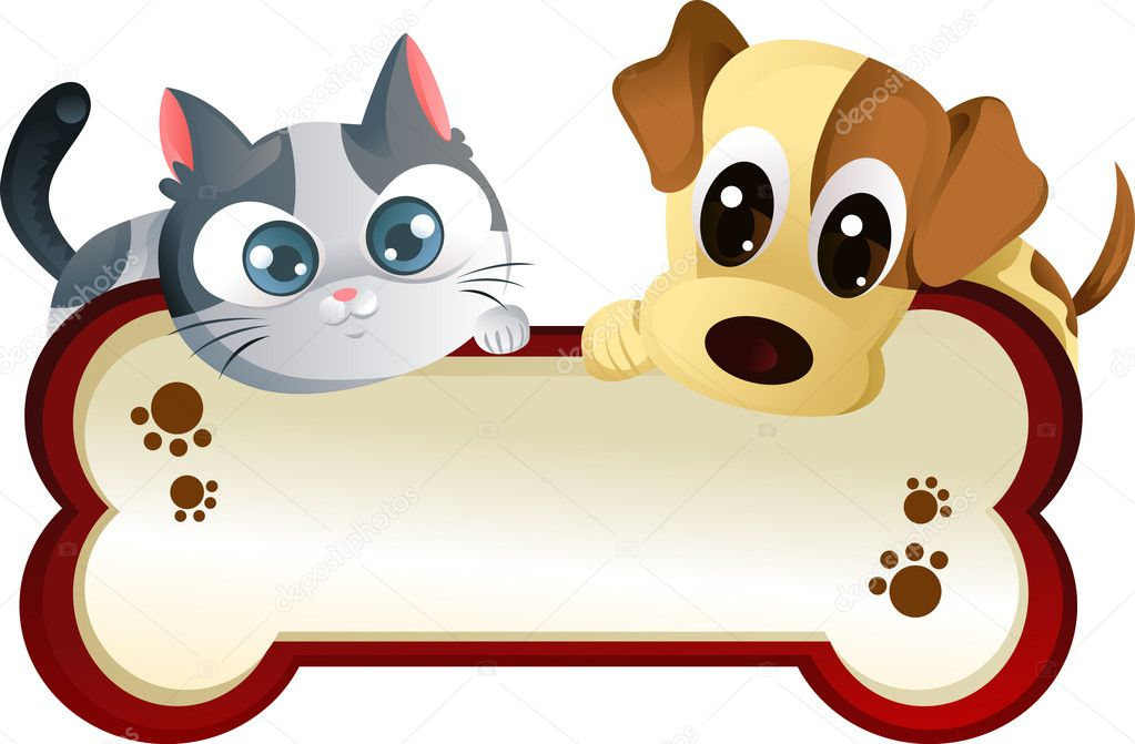 Dog And Cat With Banner Stock Vector C Artisticco 8178529