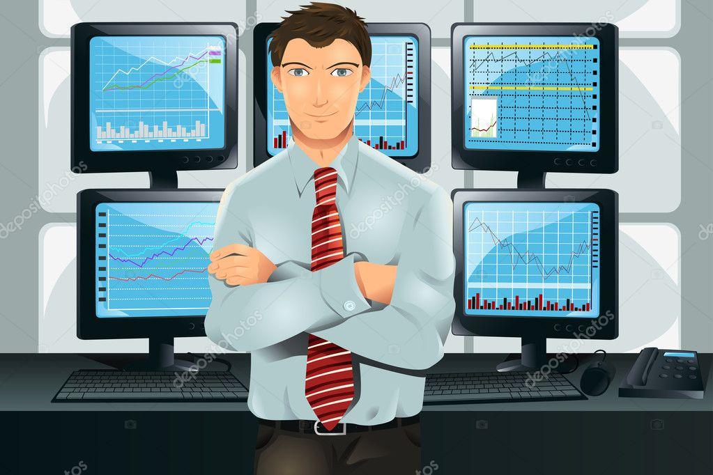 stock trader stock vector artisticco 8180334