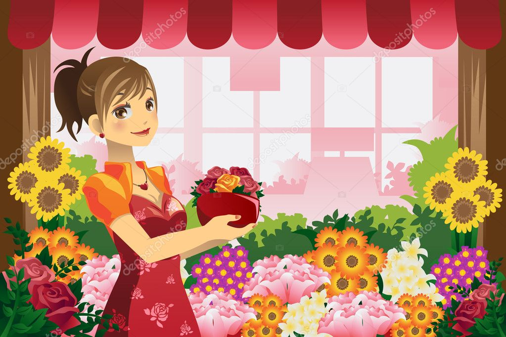 Картинки флорист для детей, открытку день