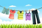 Fényképek ruhák szárítása