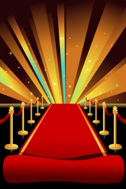 A vector illustration of red carpet background stock vector