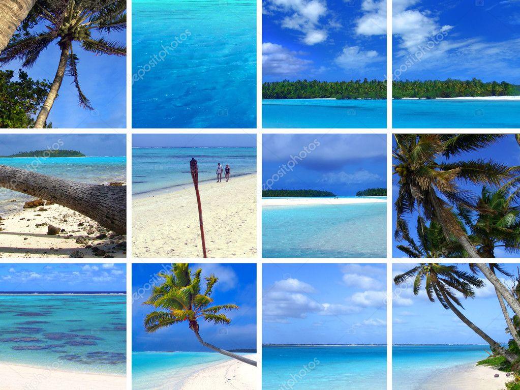 Фотообои Тропический фотомонтаж в III