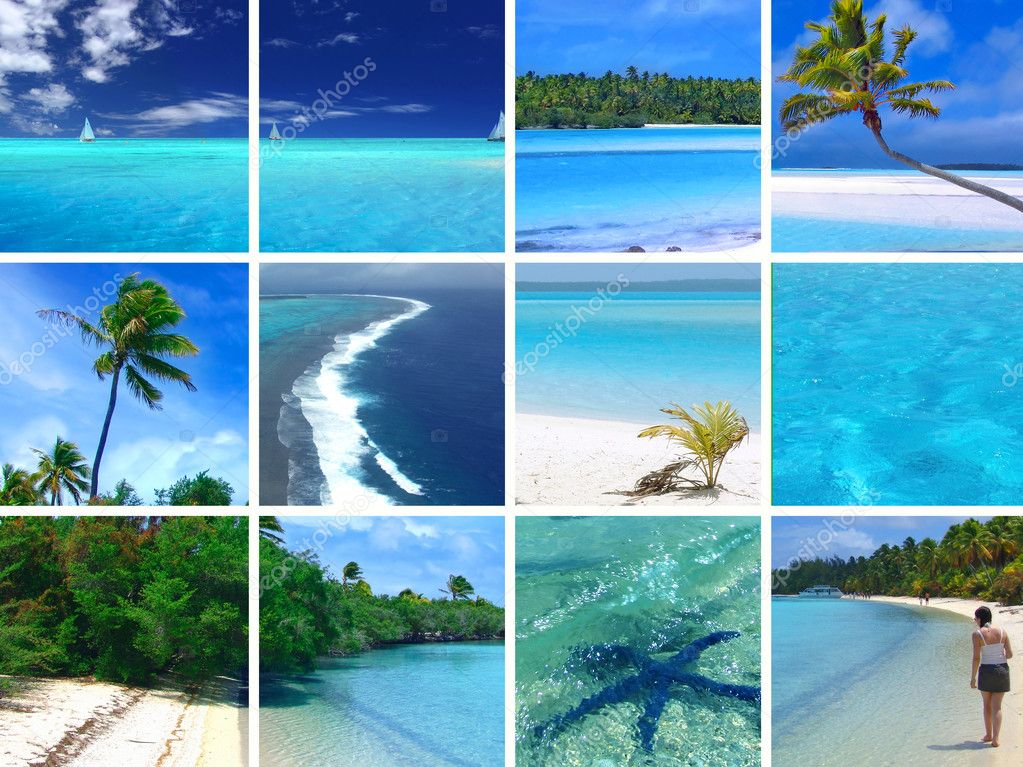 Фотообои Тропический Фотомонтаж