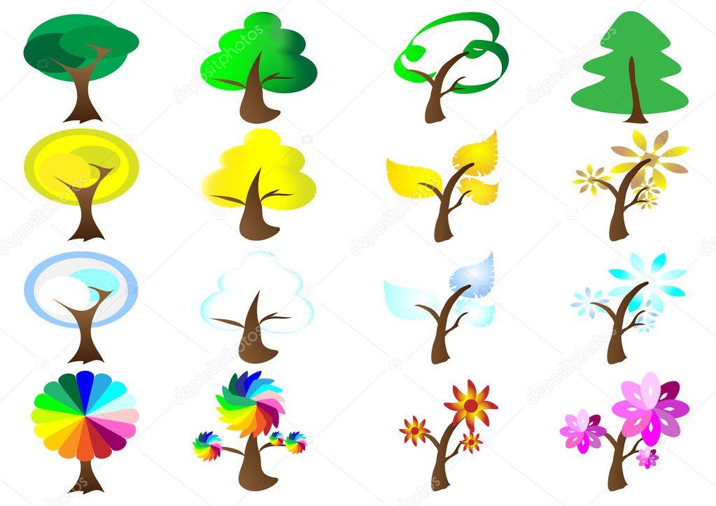 Seasons Tree Icons