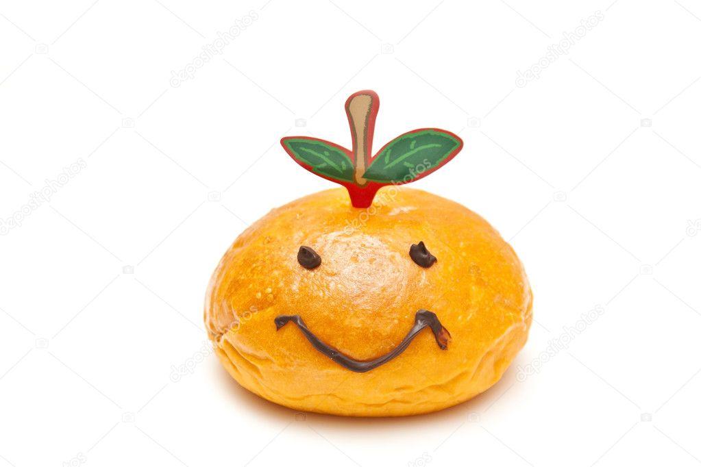 Smiley face Brot, für das chinesische Neujahr zu begrüßen ...