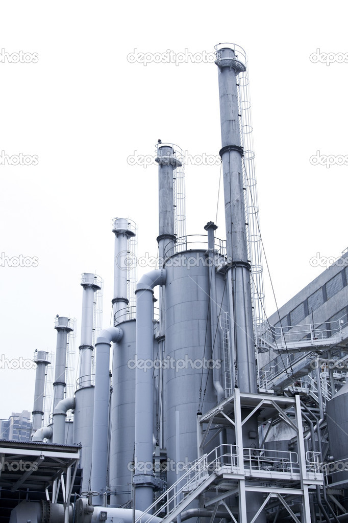 Gas processing plants in Hong Kong — Stock Photo © kawing921