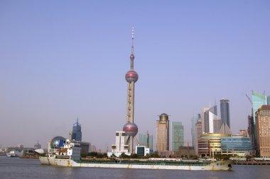 Shanghai skyline at day