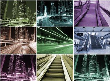 Hong Kong urban scene collage