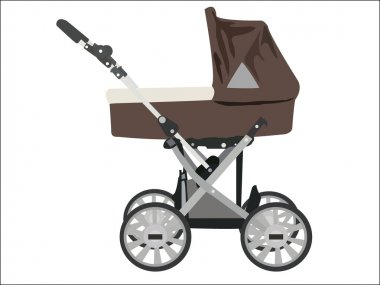 Zoomed baby stroller image