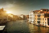 Grand Canal Velencében, Olaszországban naplementekor