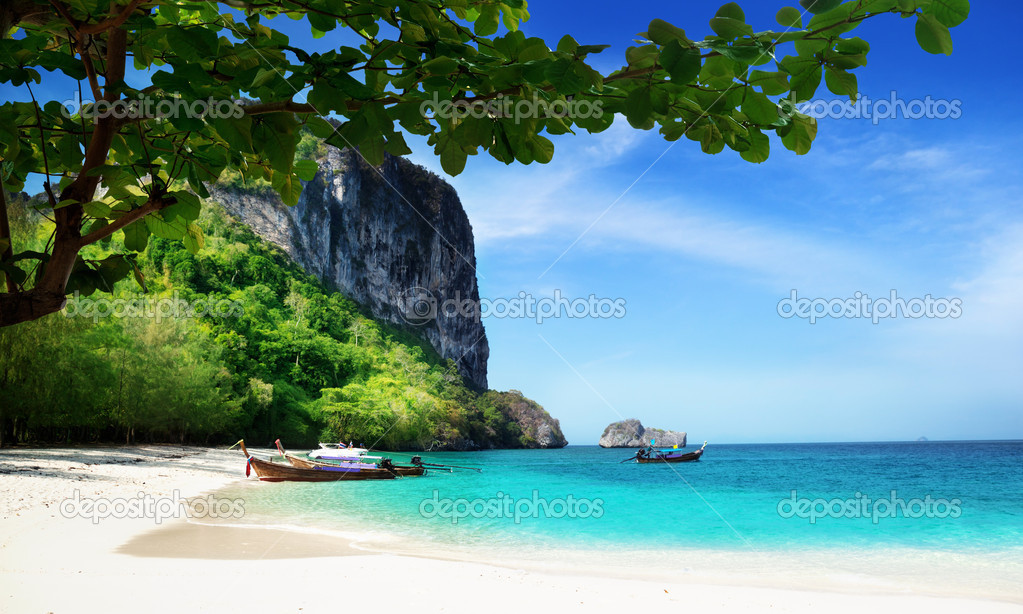 Beach on poda island in Thailand