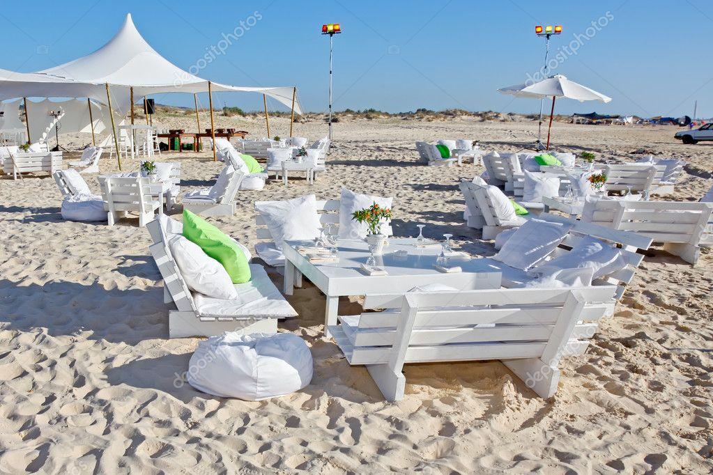 Wedding Reception On The Beach Stock Photo Katerinalin 10569387