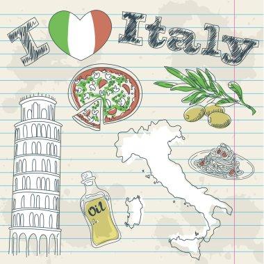 Italy travel grunge card