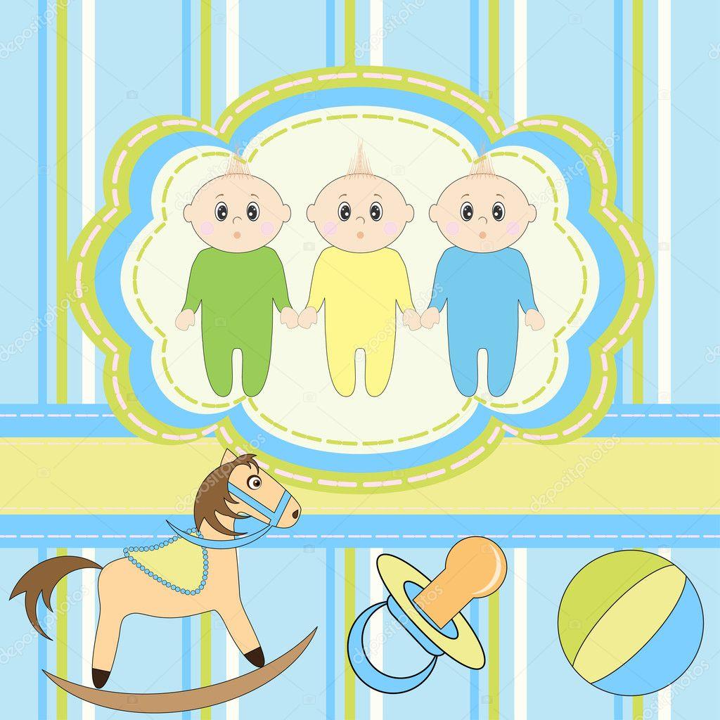 С рождением тройняшек поздравления